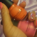 My pink and coral nail polishes I'm loving.
