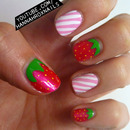 Strawberry and Creme Nails