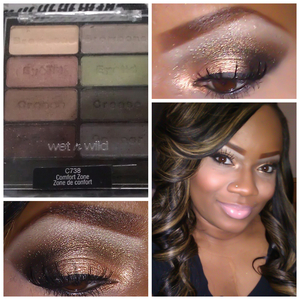 THIS LOOK CREATED USING THE COMFORT ZONE PALETTE BY WET-N-WILD.. I PURCHASED AT MY LOCAL DOLLAR GENERAL STORE FOR ONLY $5!!
