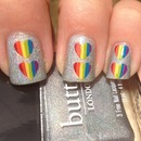Double Rainbow Nails