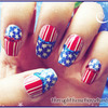 Vintage 4th of July nails