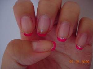 Fushia French sparkle line