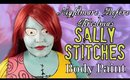 Sally Stitches Body Paint Cosplay Tutorial- Nightmare Before Christmas (NoBlandMakeup)