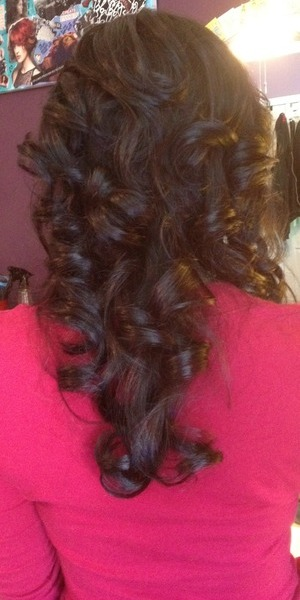 Curl set on great hair