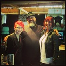 Mr. James Vincent, my classmate Erin & I at The Make Up Show 2013