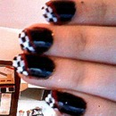 Checkered Nails (With Red and Black)