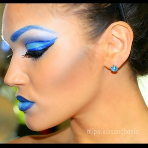 my first attempt at artistic makeup!! details on IG @lipsticksandheels