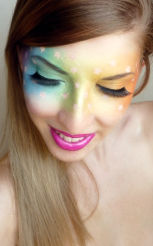 Gay Pride inspired look for the Toronto Parade