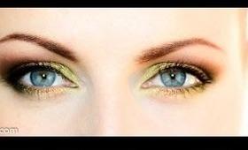 Spring Green Eyes - Ličenje v zelenih odtenkih (in SLOVENIAN)