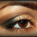 Brown smokey shimmer