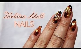 How To: Tortoise Shell Nails Using Nail Polish ♡