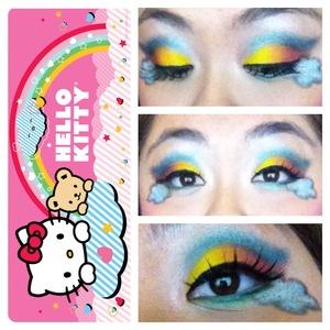 Hello kitty inspired. Just the rainbow.