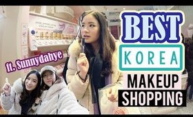Shopping for THE BEST KOREAN MAKEUP in MYEONGDONG | ft. Sunnydahye
