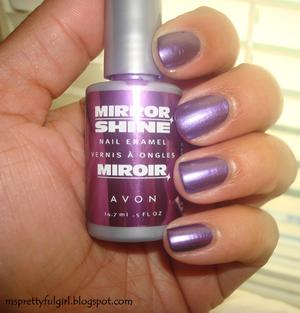 Avon Mirror Shine in Polish http://msprettyfulgirl.blogspot.com/2011/08/finger-painting-avon-mirror-shine.html