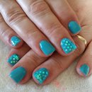 Blue Nails/Paillettes/Tiffany/Nails
