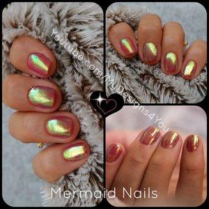 DIY Mermaid Nails | Mirror Glitter Powder, Chrome, Nails Trend  https://www.youtube.com/watch?v=gaE9iBIBwpk