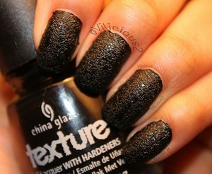 Two coats of China Glaze Bump In The Night... Reminds me of leather....
