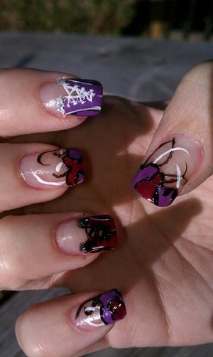 valentines day nails corsets and hearts