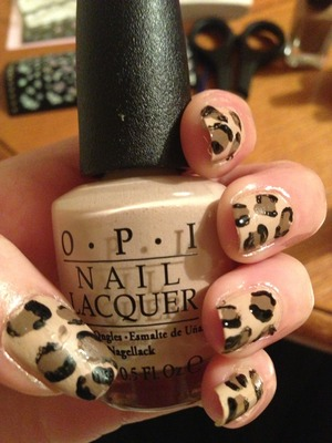 Opi -don't pretzal my buttons Barry m light brown  Barry m black  Tooth pic