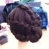 Braided seashell bun