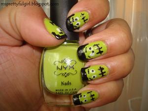 Finger Painting: Frankie Fingers http://msprettyfulgirl.blogspot.com/2011/10/finger-painting-frankie-fingers.html