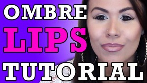 "Want to learn how to change your look and add some pop to your lips?  Go check out my new step-by-step tutorial on how to achieve ""Nude Ombre Lips."""