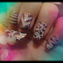 Mixed Pattern Nails
