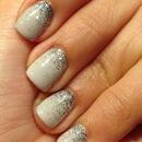 Cityscape with silver gradient glitter