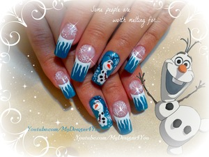 Disney FROZEN Inspired, OLAF the Snowman, Winter Nails. http://www.youtube.com/watch?v=El1BquqvgHY