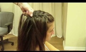 Waterfall French Braid: Hair Tutorial: Easy Half Up Half Down Hairstyle