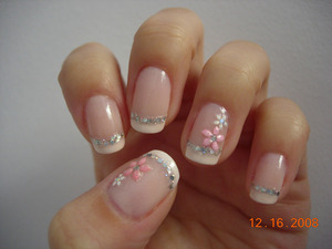 Glitter and flowers on classic French