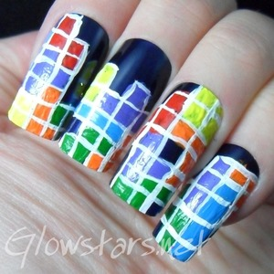 For more nail art and other manicures in this challenge visit http://Glowstars.net