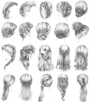 Not my photo, not taking credit.. But these are gorgeous hairstyles! If I ever find the tutorial for most of them, I'll definitely post them!<3