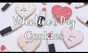 Valentine's Day Lipstick & Sassy Conversation Heart Cookies Tutorial | OliviaMakeupChannel