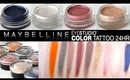 Maybelline Color Tattoo 10 colors Swatches