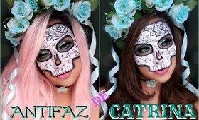MASCARA de CATRINA - Maquillaje / Sugar Skull mask makeup tutorial   auroramakeup