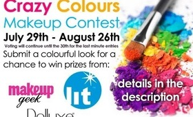 Crazy Colours Makeup Contest July 29th-Aug 26th
