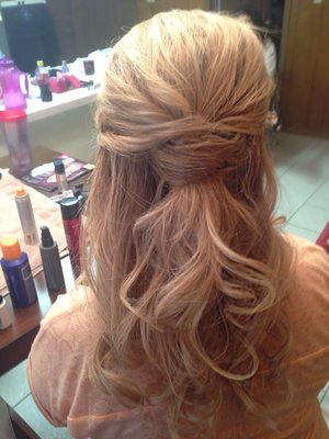 Hair for a special event, like a wedding or prom or a formal