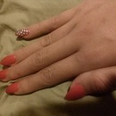 Red nails and disco pinkie