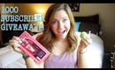 1000 Subscriber GIVEAWAY! Benefit Cosmetics, Nail Polish, EOS lip balm *OPEN!*