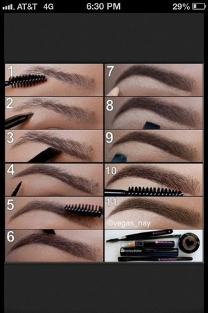 How to:fill in your eyebrows😘