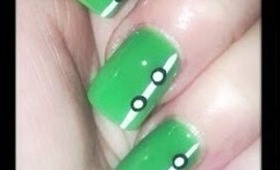 Bright Green Easy Nail Design (great for beginners)