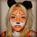 Tiger Halloween face/body make-up