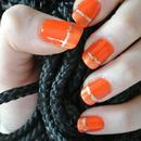 Orange stylish nails