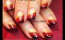 Missoni Nails diagonal french Ombre nail art. robin moses spring design 2012 tutorial 646