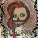My drawing of Emily G. Beautiful misfits makeup look