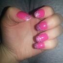 nails#pink# sparkling