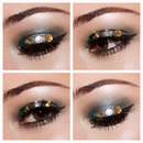 sparkle bedazzled glam eyes
