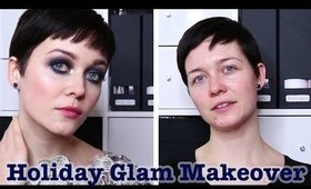 Holiday Glam: Blue smokey eyes on Clara