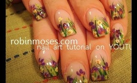 wild flower design: robin moses nail art tutorial